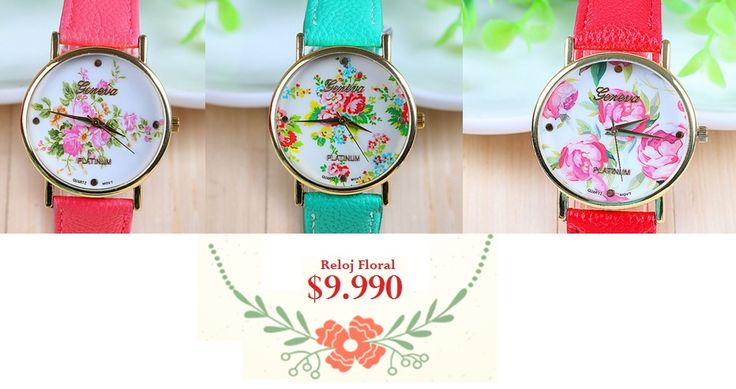 Reloj Floral. Tienda MyFavorite_4d / only beautiful things www.facebook.com/myfavorite4d