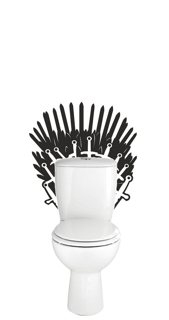 Game of thrones iron throne toilet decal wall sticker for Iron throne bean bag