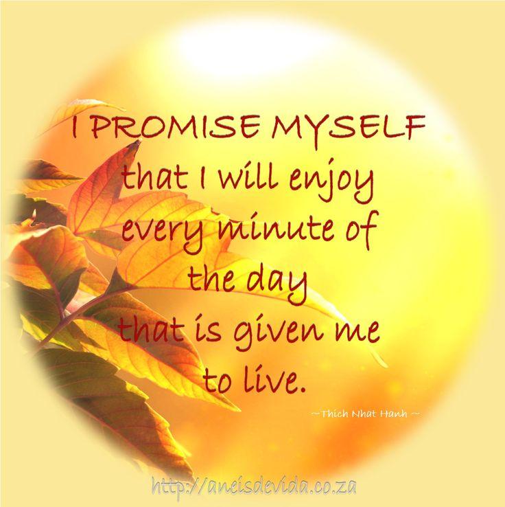 I Promise Myself  http://aneisdevida.co.za