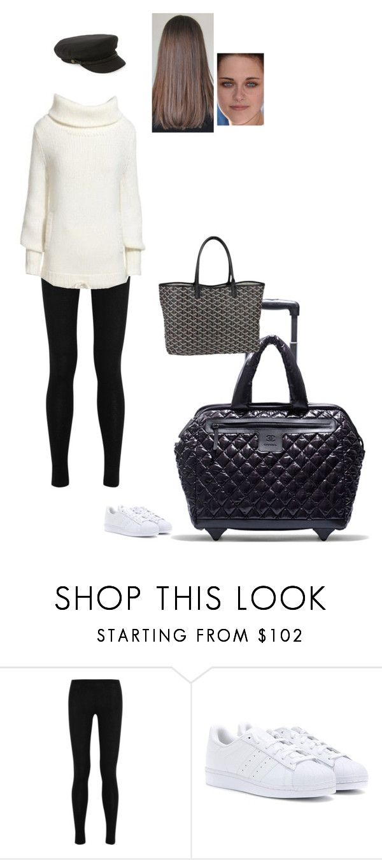 """Sem título #7630"" by gracebeckett on Polyvore featuring moda, Donna Karan, adidas, Brixton, Chanel e Goyard"