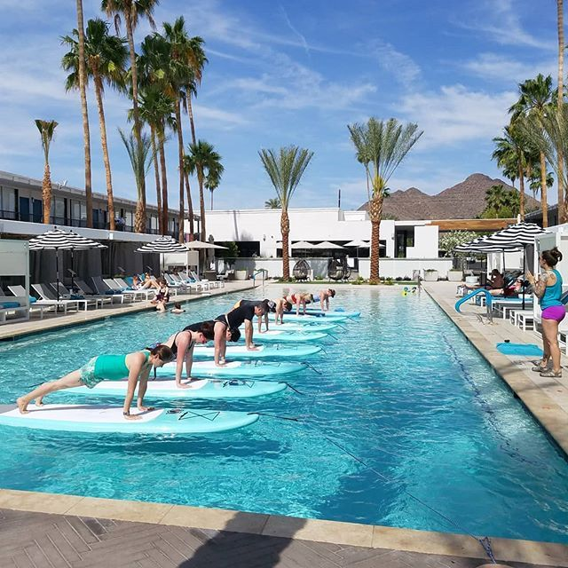Sup Yoga And Brunch With Paddleyogaaz Last Sunday At The Hotel