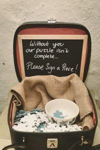 Have guests take part in creating something you can later display in your home - such a cool guestbook alternative!
