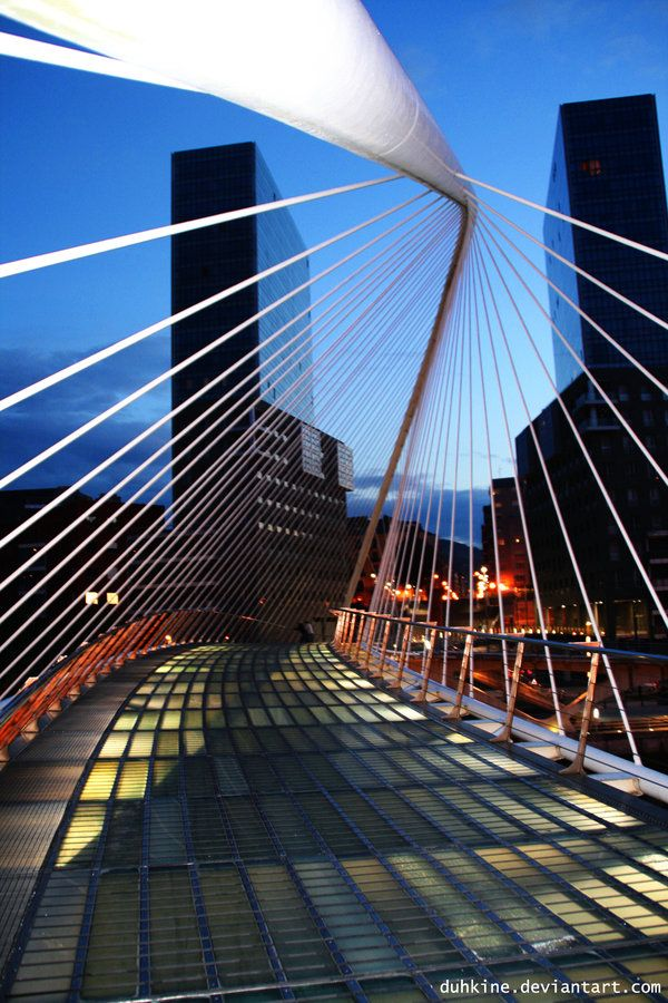 Campo Volantin Bridge, Bilbao, Spain by Santiago Calatrava Architect