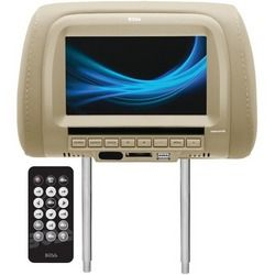 """Boss Audio 7"""" Headrest With Usb & Sd Card Ports (tan) (pack of 1 Ea)"""