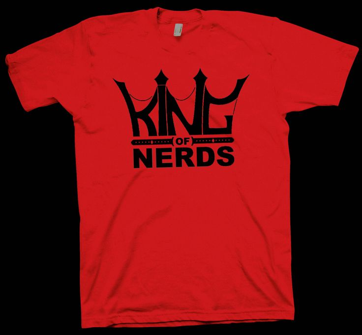 King of Nerds T-Shirt , Science Tee Scientist Geek Funny Cute - T-Shirts