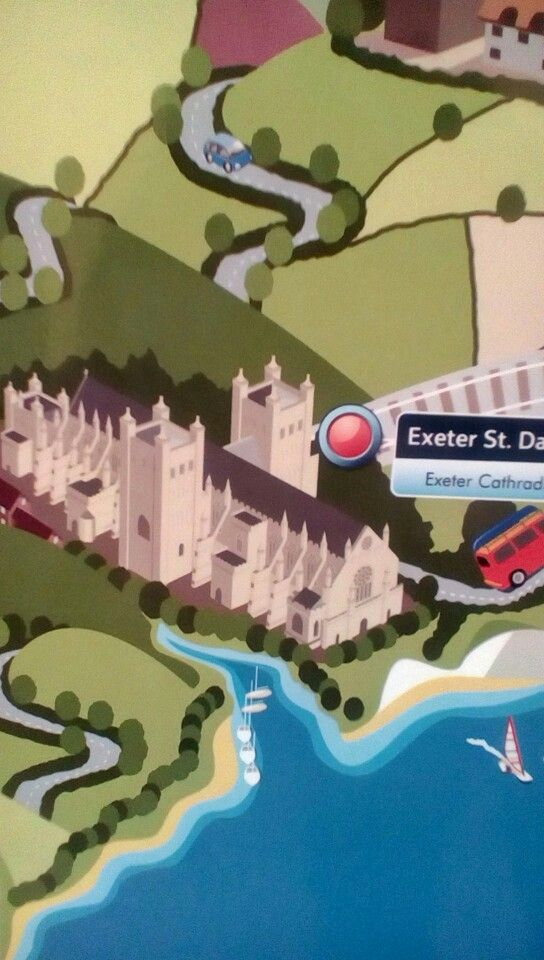 SWT map at Salisbury showing Exeter The