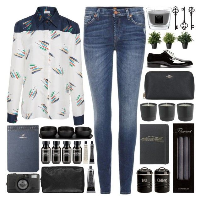 I just want to be a star that floats in the sky. It doesn't do anything but shine on its own. by pure-and-valuable on Polyvore featuring Gabriela Hearst, 7 For All Mankind, Yves Saint Laurent, Grown Alchemist, Coach, Postalco, Flamant, Typhoon, Tina Frey Designs and Baobab Collection
