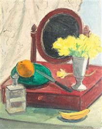 Still Life with Narcissus and Mirror, Theodor Pallady