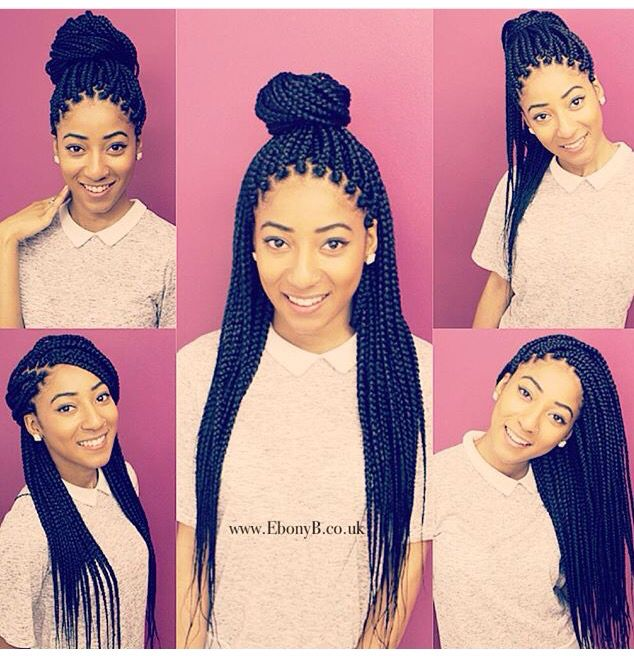 Superb 1000 Ideas About Box Braid Styles On Pinterest Box Braids Short Hairstyles For Black Women Fulllsitofus