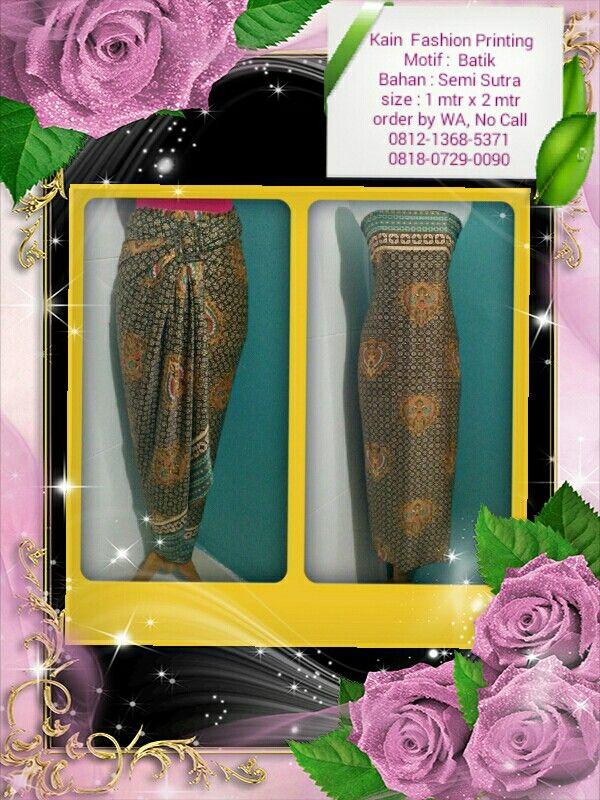 Kain Fashion Printing Motif : Batik Sogan Bisa Reques Ukuran & Menerima pesanan Seragaman Ket & Order : Lihat di foto