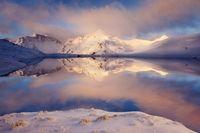 sunrise at lake angelus nelson lakes national park july 2013