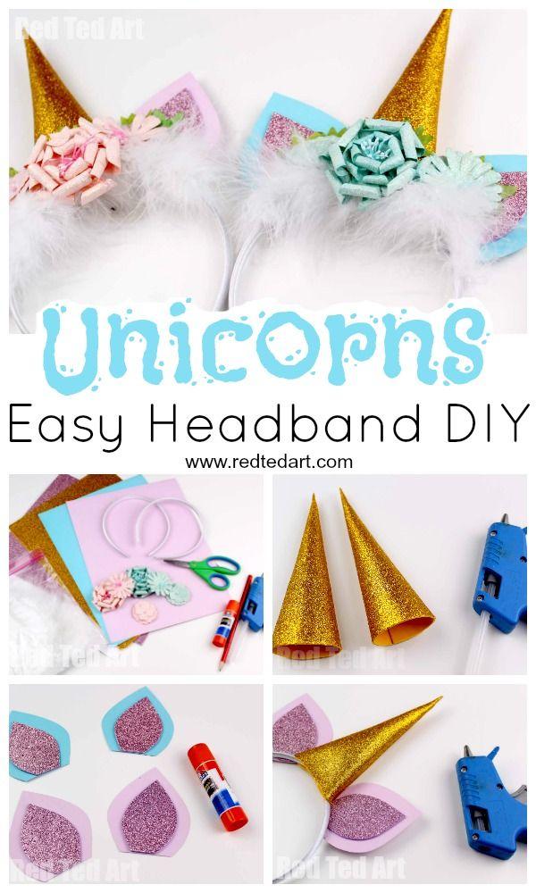 Unicorn Headband Diy Red Ted Art Make Crafting With Kids Easy Fun Diy Unicorn Headband Diy Unicorn Costume Tween Crafts