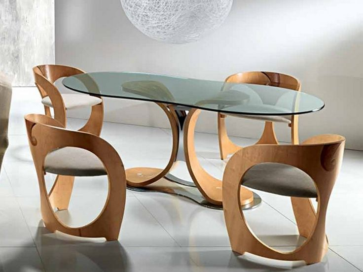 Elegant Dining Table With Curved Wood Part 94