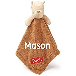 Kids Preferred Personalized Disney Classic Winnie the Pooh Baby Snuggle Blanky Blanket - 14 Inches