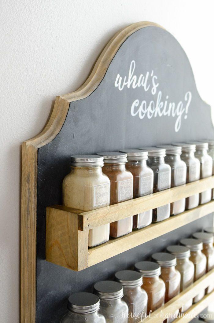 Wooden Spice Rack Build Plans Wooden Spice Rack Kitchen Storage Organization Diy Hanging Spice Rack