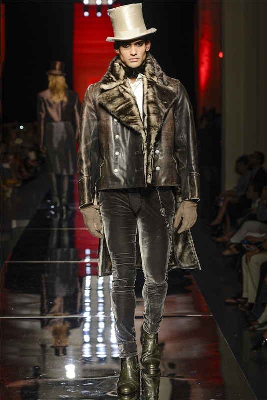 Jean Paul Gaultier is feeling dandy in his haute couture men's collection for F/W 2012-2013.