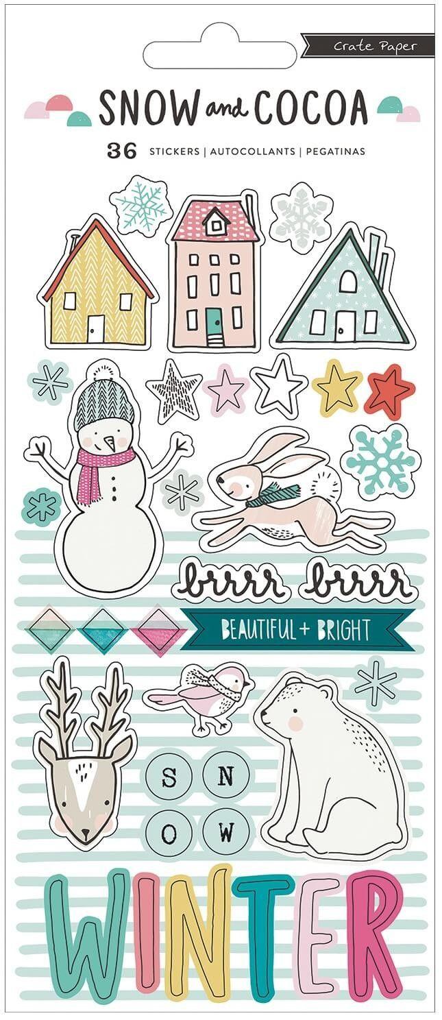 Pegatinas Snow & Cocoa - Puffy