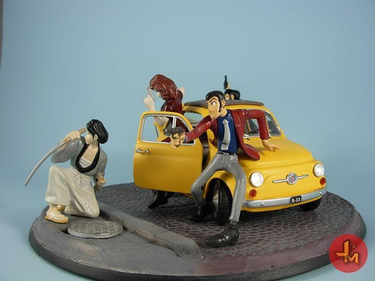 Lupin III, Fiat 500, Lupin, diorama, fujiko, japmodels, jigen, goemon