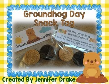 Groundhog Day  Are you getting ready to celebrate Groundhog's Day??  You can find all my Groundhog Day resources here!  Want a fun snack to send home with your kids that encourages conversation about their prediction of what the groundhog will do OR what the groundhog did?