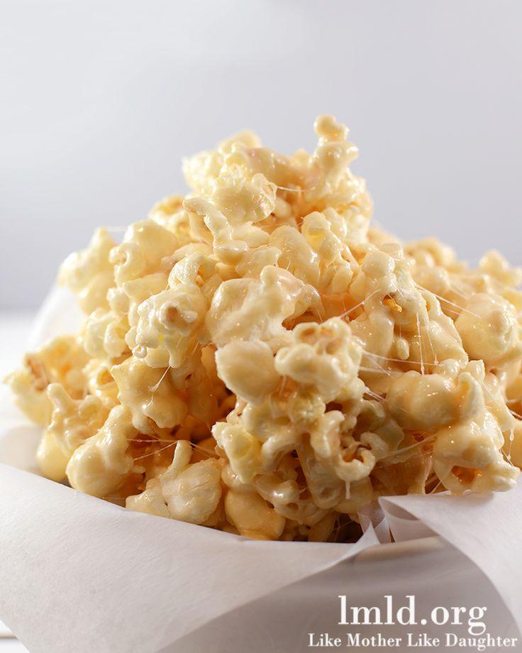 Marshmallow Caramel Popcorn - Like Mother Like Daughter
