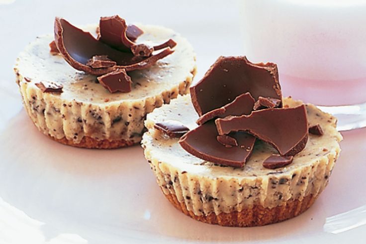 Mini Chocolate Cheesecakes Recipe - Taste.com.au . Really easy and turns out perfect.
