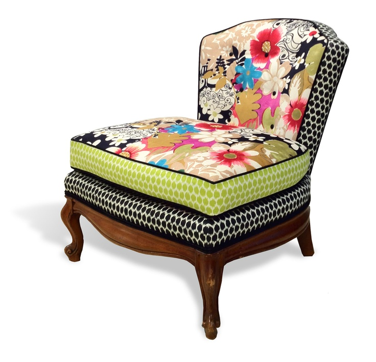 theSabrina occasional chair - Redressed with floral attitude. $1,800.00, via Etsy.