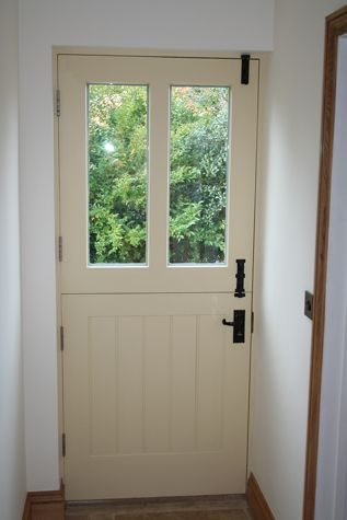 Stable door for back door to Utility. For similar door handles and door bolts click below: http://www.priorsrec.co.uk/door-furniture/door-handles/iron-door-handles/c-p-0-0-3-20-59