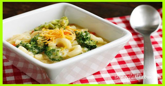 Skinny Macaroni And Cheese Soup With Broccoli - weight watchers ...