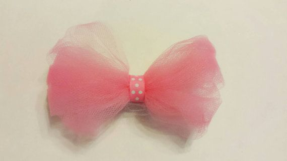 Little girl hairbow baby girl barrete Pink by Rhondikreations
