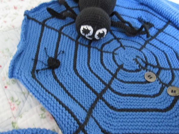 Spider and web on sweater