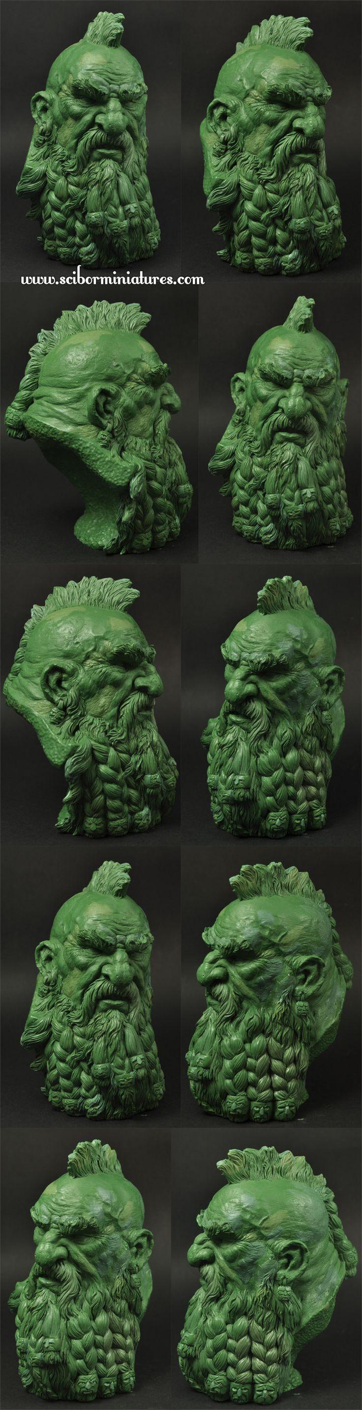 Dwarf Bust Green