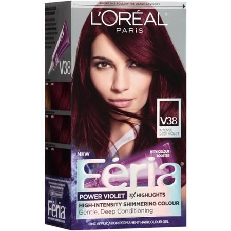 L'Oreal Paris Feria Power Violet Hair Color Gel Kit, V38 Intense Deep Violet - Walmart.com