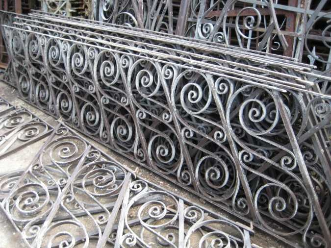 Curly Antique Wrought Iron Railing Sections Ebay I Wish Could Find Some Panels Like This Architectural Details Including Fan Windows Pinterest