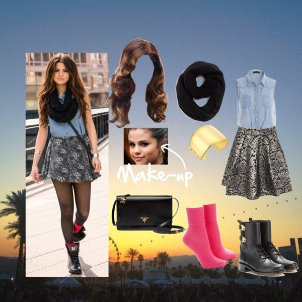 Selena Steal Style #1 by sophee-xoxo on Polyvore featuring Boohoo, Hue, Valentino, Prada, Kenneth Jay Lane, Madewell and adidas