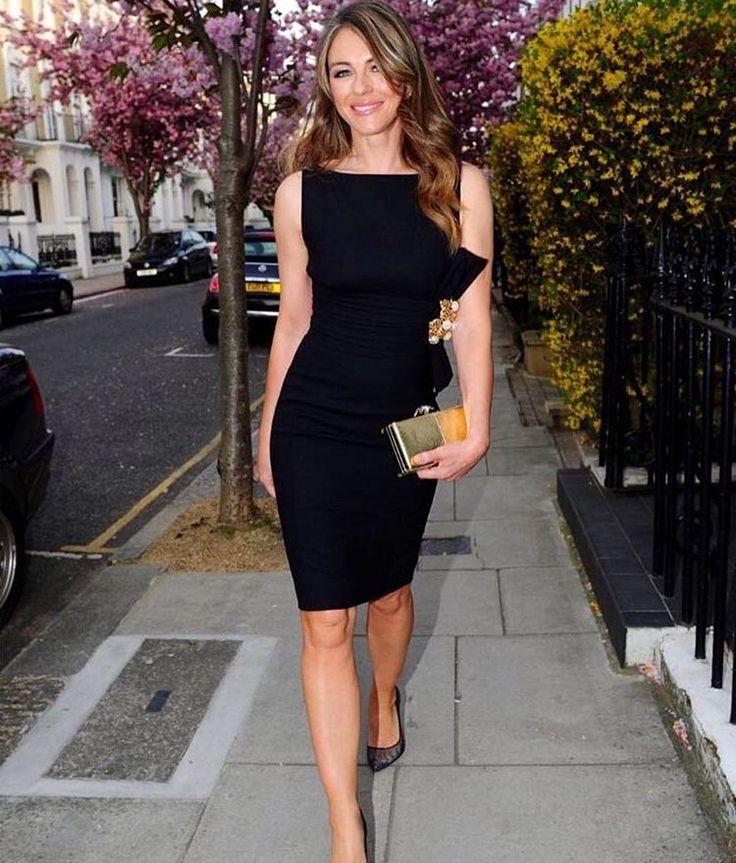 Model and actress Elizabeth Hurley weraring #Dsquared2 in London. #D2celebrities #Elizabethhurley