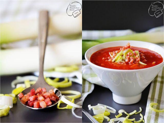 Wonder Wunderbare Küche: Tomaten-Lauch-Suppe mit Speck