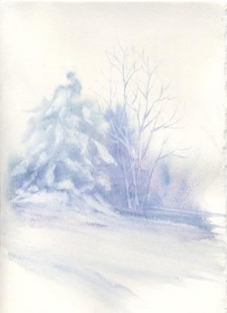 Susie Short's Watercolor Christmas Card Ideas- for painting cards