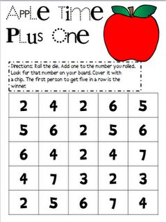 """Plus One"" more addition games freebie"