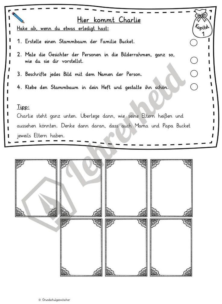 Wunderbar Charlie Und Die Schokoladenfabrik Arbeitsblatt Ideen ...