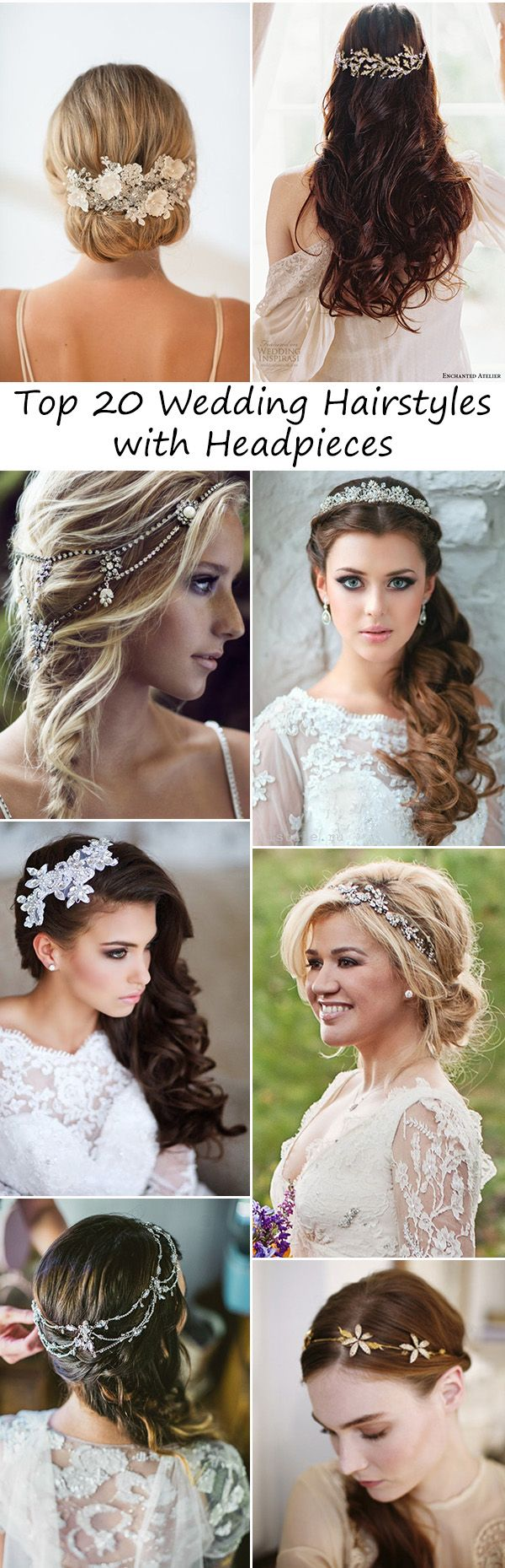 top 20 gorgeous wedding hairstyles with bridal headpieces