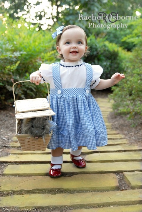 v. pricy, but 100% cotton.  she'd like for dressup after...    Dorothy Costume/dressup  toddler sizes 6 mos by littleshepsters, $68.00