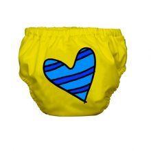 heart on yellow swim diaper / Charlie Banana