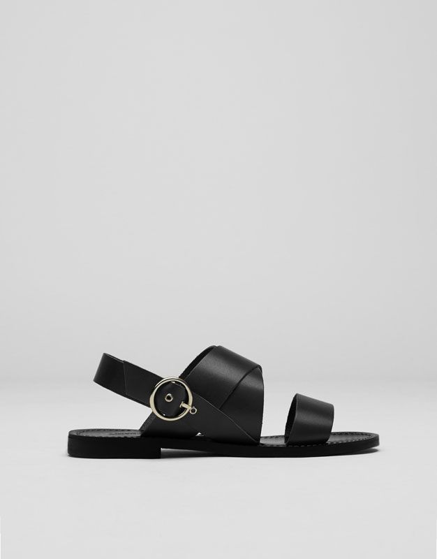 :Sandalia piel soft negra