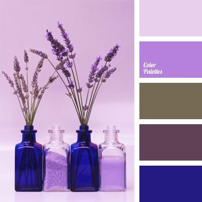 Another type of northern spring, this time with inclusions of gray-green – the color of flowering stalks of grass. Lavender, pale violet and lilac are complemented with electric blue. As in the previous case, the palette will bring light to the shaded first floors and can become a color scheme for a themed English or Scandinavian café.