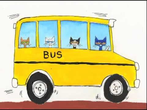 Fun for Back to School!! The Wheels on the Bus with Pete the Cat!  Song and video!!!