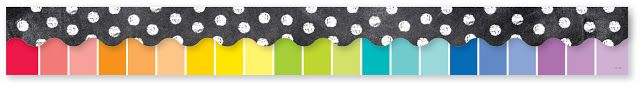 Creative Teaching Press Borders - Rainbow Paint Chip and Chalk It Up Dots