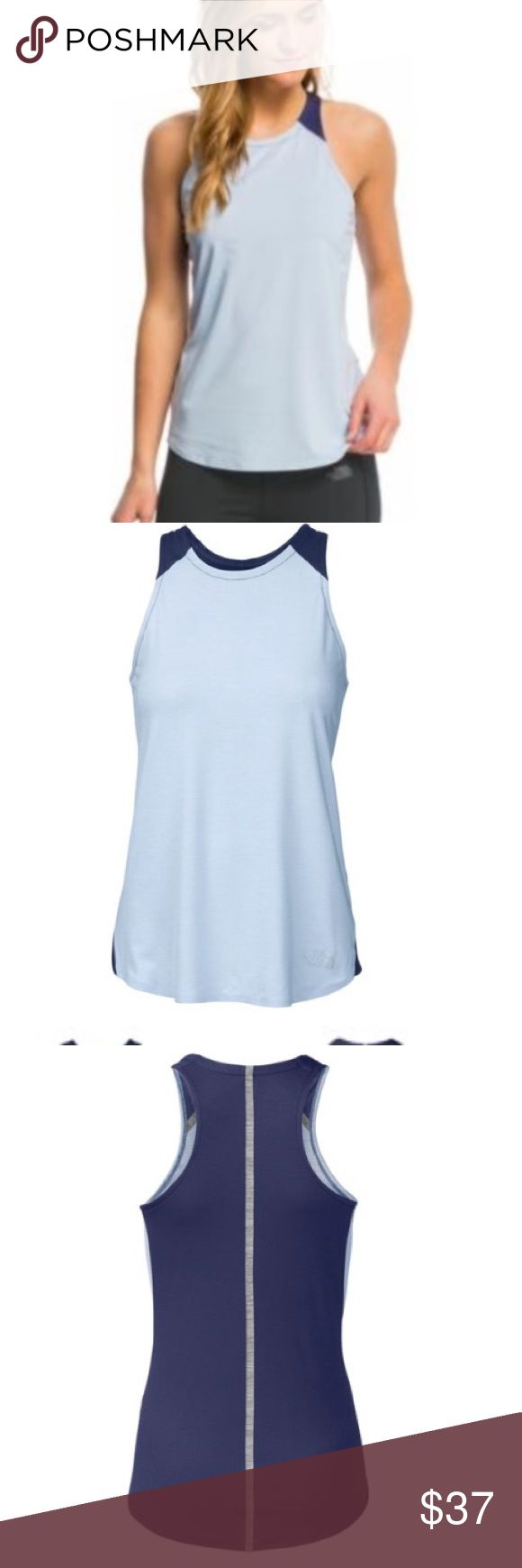 NWT THE NORTH FACE W DYNAMIX TANK TOP NWT THE NORTH FACE W DYNAMIX TANK FF PERFORMANCE/TRAINING TOP-M.   Color: PWDRBLHR/PTRTBL.  Powder blue heather/Patriot blue. The North Face Tops Tank Tops