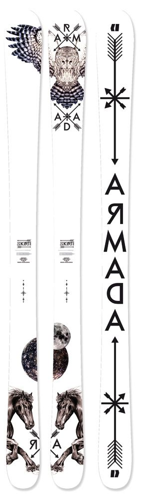 Kirti | ARMADA SKIS , have ponies on them !!