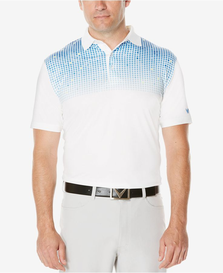 Callaway Men's Patterned Golf Polo - Polos - Men - Macy's