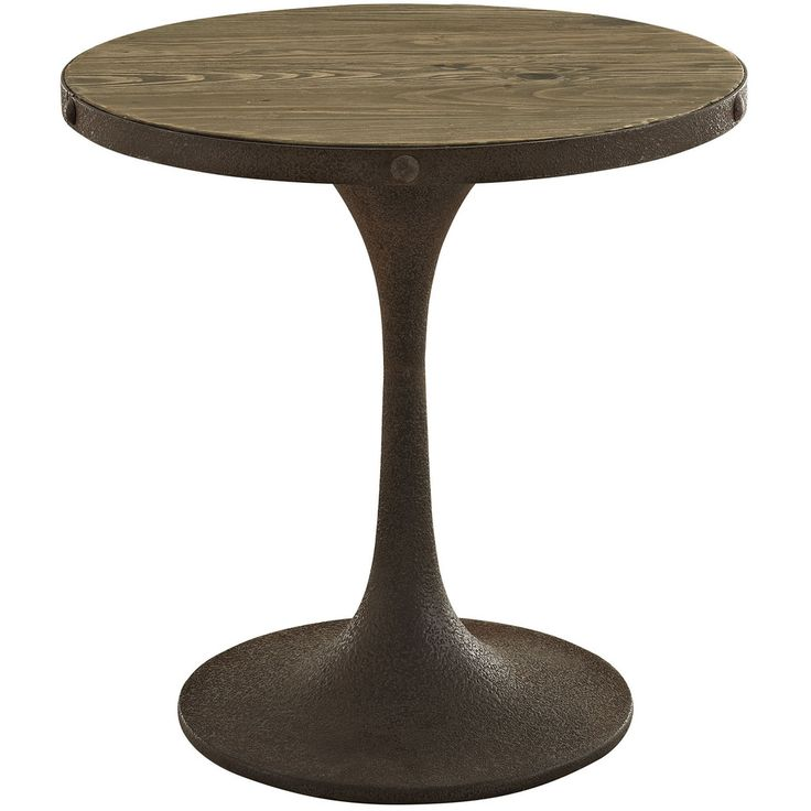Drive Wood Top Side Table Brown
